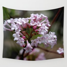Beautiful Spring Blossoms - Koreanspice Viburnum Wall Tapestry