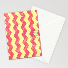 VERTICAL SPACE CHEVRON - for iphone Stationery Cards