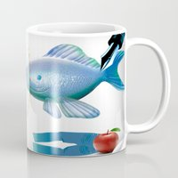 surrealism Mugs featuring Surrealism by amanvel