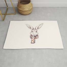 Bunny and scarf Rug