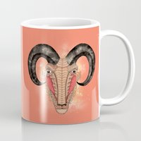 aries Mugs featuring Aries by Vibeke Koehler