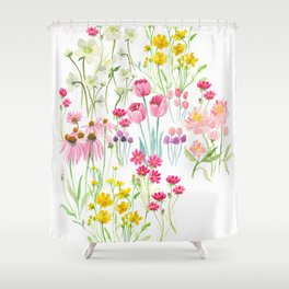 field flower bouquet Shower Curtain