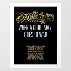 Demons Run When A Good Man Art Print