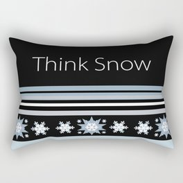 Think Snow Winter Design Rectangular Pillow