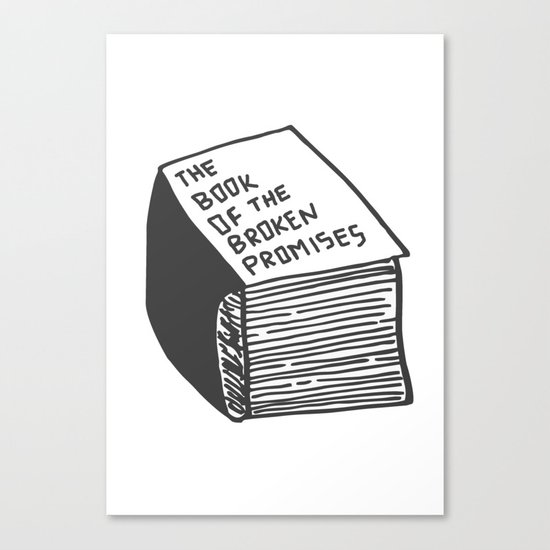 The Book of the Broken Promises Canvas Print
