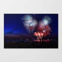 Fireworks at the Scheveningen Beach in The Hague, Netherlands Canvas Print