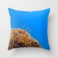 school Throw Pillows featuring School by Tyler Lucas