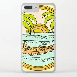 peaceful hammock life Clear iPhone Case