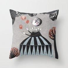The Juggler's Hour Throw Pillow