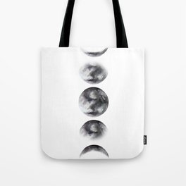 Moon phases watercolor painting Tote Bag