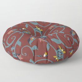 Wine Bug Swirl Floor Pillow
