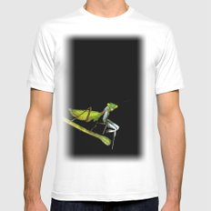 mantis White Mens Fitted Tee SMALL