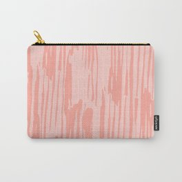 Rose Pink Stripes Carry-All Pouch