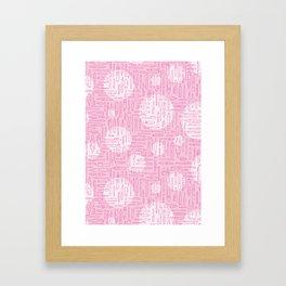 Pink Pens Framed Art Print