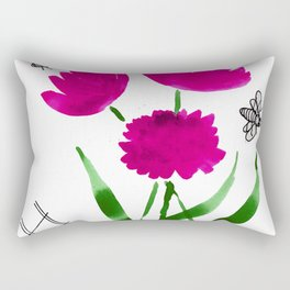 bees n blooms Rectangular Pillow