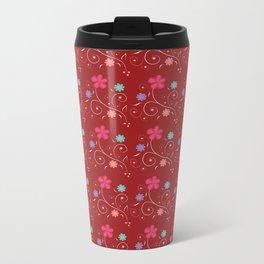 Flowers in red Metal Travel Mug