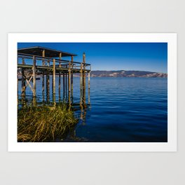 Clear Lake Jetty Art Print