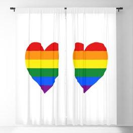 Rainbow Heart Blackout Curtain
