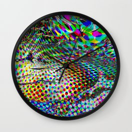 Once upon a halftone Wall Clock