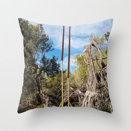 Get Out There Throw Pillow