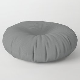 Pewter, Steel, Dark Gray Solid Color Pairs with Farrow and Ball - Down Pipe - Dark Lead Gray 26 Floor Pillow