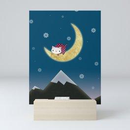 Moon Kitten Mini Art Print
