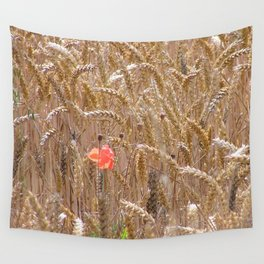Poppy in a wheatfield Wall Tapestry