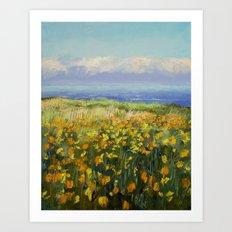 Seaside Poppies Art Print