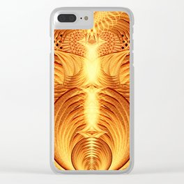 Pheonix Fire Temple Clear iPhone Case