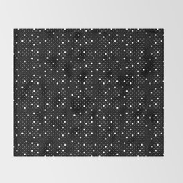 Pin Point Polka White on Black Repeat Throw Blanket