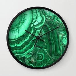 Green Agate Surface Wall Clock