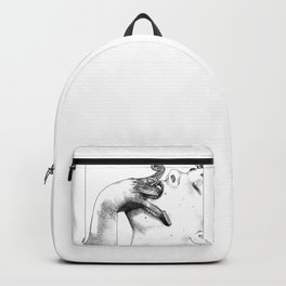 asc 427 - La femme introvertie (She tries to reach into her guts) Backpack
