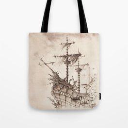 Haunted Ship Tote Bag
