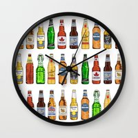 beer Wall Clocks featuring BEER by BearandBugle