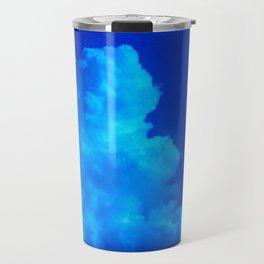 Deep Blue Clouds Travel Mug