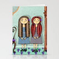 twins Stationery Cards featuring Twins by ilana exelby
