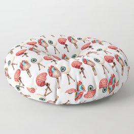 Heart, Brain, Eyeball Pin-ups Floor Pillow