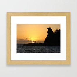Sunrise at Bear Rock Inarajan Framed Art Print