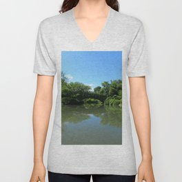 Gapstow Bridge - Central Park Unisex V-Neck