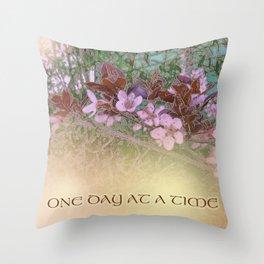 ODAT Plum Blossoms on Green Throw Pillow
