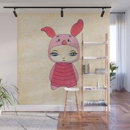 A Boy - Piglet (porcinet) Wall Mural