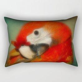 Red Scarlet Macaw Parrot Rectangular Pillow