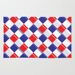 Stars and Stripes Plaid  Rug
