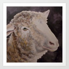 Zoe's Sheep Art Print