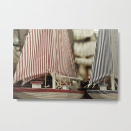 Tiny Sailboats Metal Print