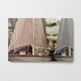 Tiny Sailboats Metal Print
