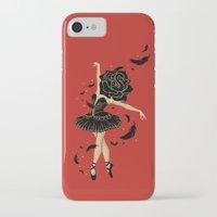 black swan iPhone & iPod Cases featuring Black Swan by Enkel Dika