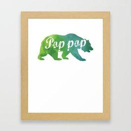 Pop Pop Watercolor Bear Framed Art Print