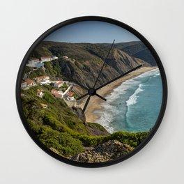 Arrifana surfing beach, Portugal Wall Clock