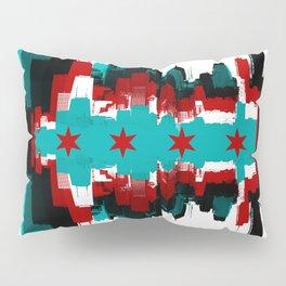 Chicago Flag Skyline Pillow Sham